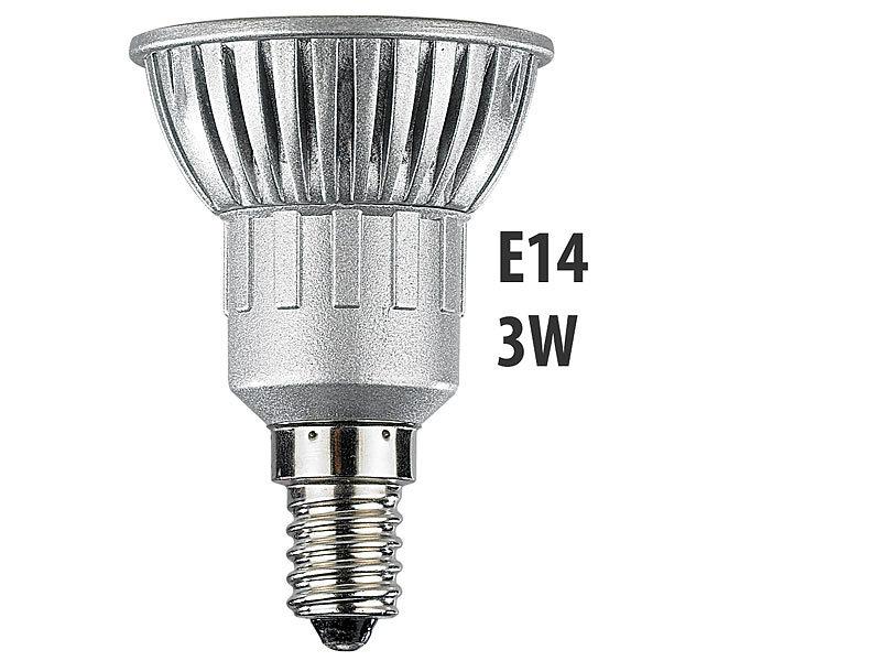 Luminea LED-Spot 3x 1W, LED, warmweiß, E14, 210 lm