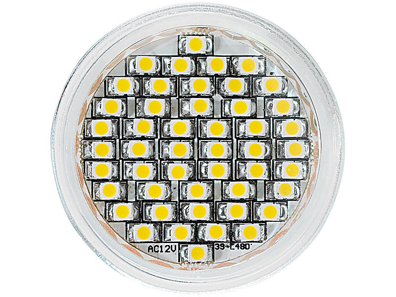 ; LED-Spots GU10 (warmweiß)