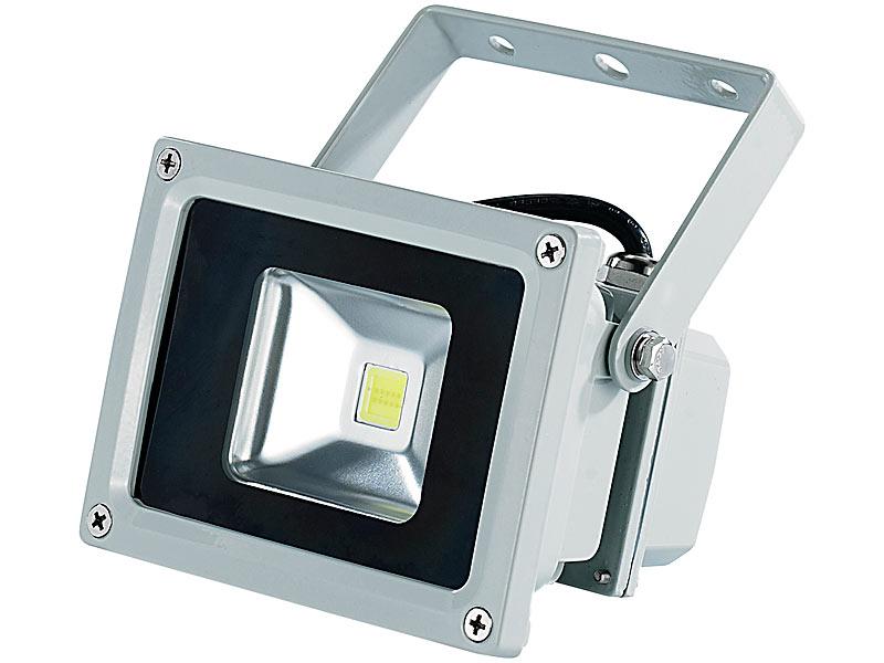 luminea wetterfester led fluter im metallgeh use 10 w ip65 warmwei. Black Bedroom Furniture Sets. Home Design Ideas