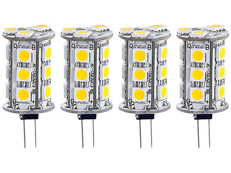 ; LED-Stifte G4 (warmweiß) LED-Stifte G4 (warmweiß) LED-Stifte G4 (warmweiß) LED-Stifte G4 (warmweiß)