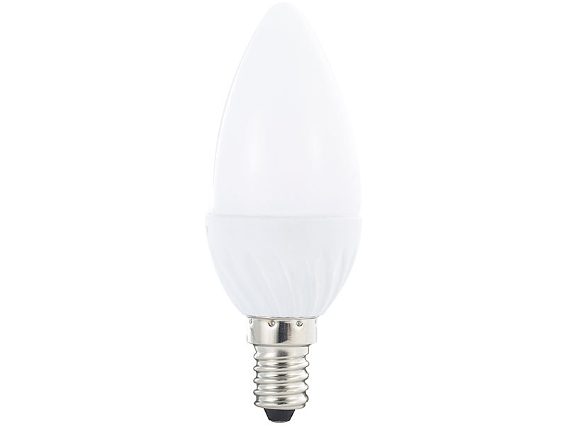 E27 6.400 K tageslichtweiß Strahler E27: LED-Tropfen 250 lm 3 W 160°