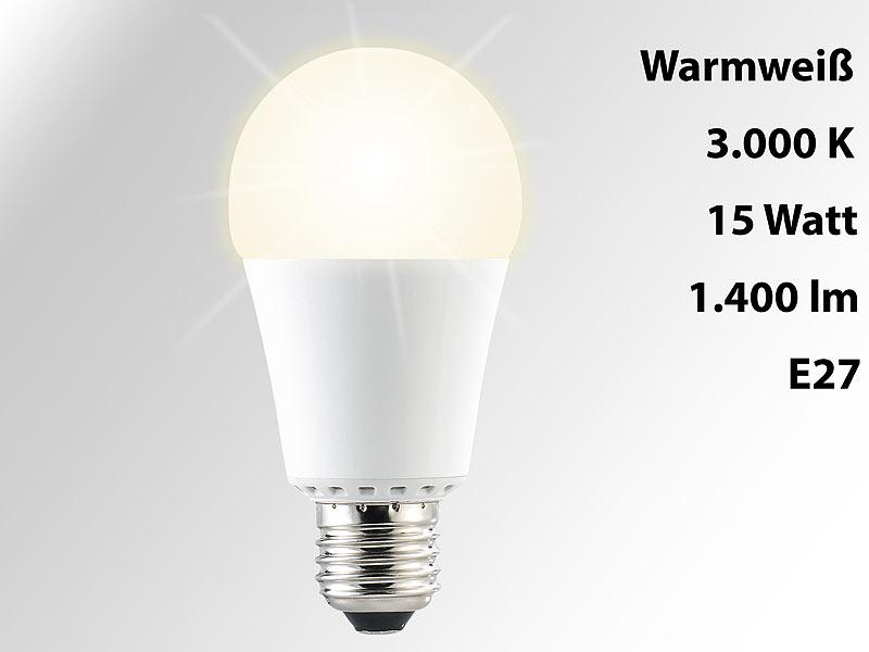 luminea high power led lampe e27 15 watt lumen warmwei 3000 k a. Black Bedroom Furniture Sets. Home Design Ideas