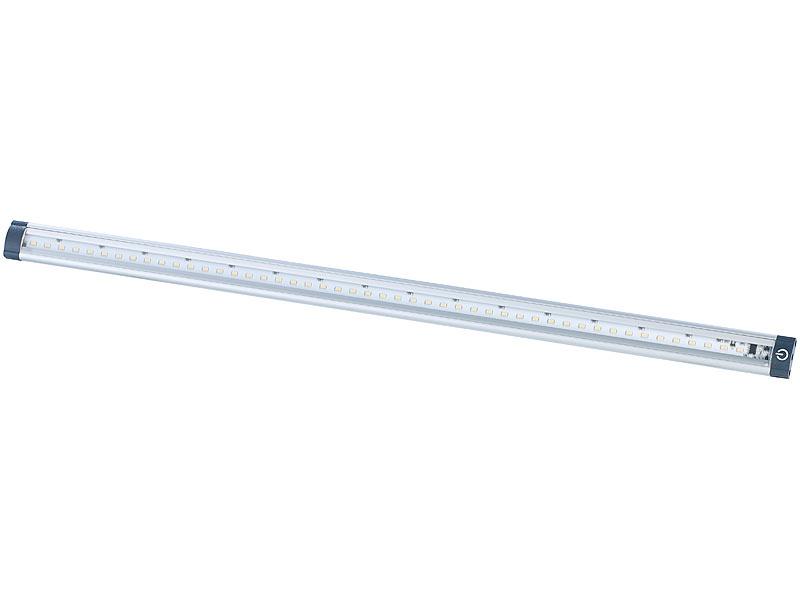 Luminea Led Unterbauleuchte 50cm 3er Set Verbindungsstücke Netzteil