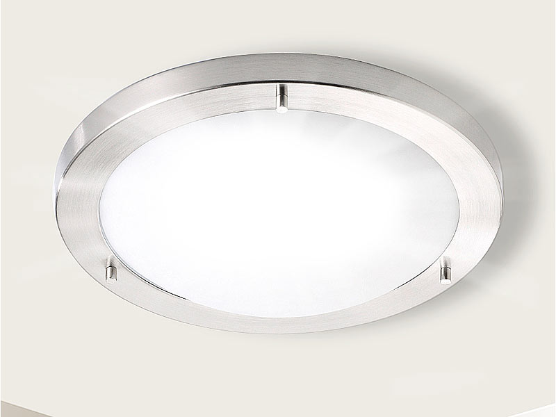 luminea deckenleuchte ip44 mit fassung e27 max 50 w 31 cm. Black Bedroom Furniture Sets. Home Design Ideas