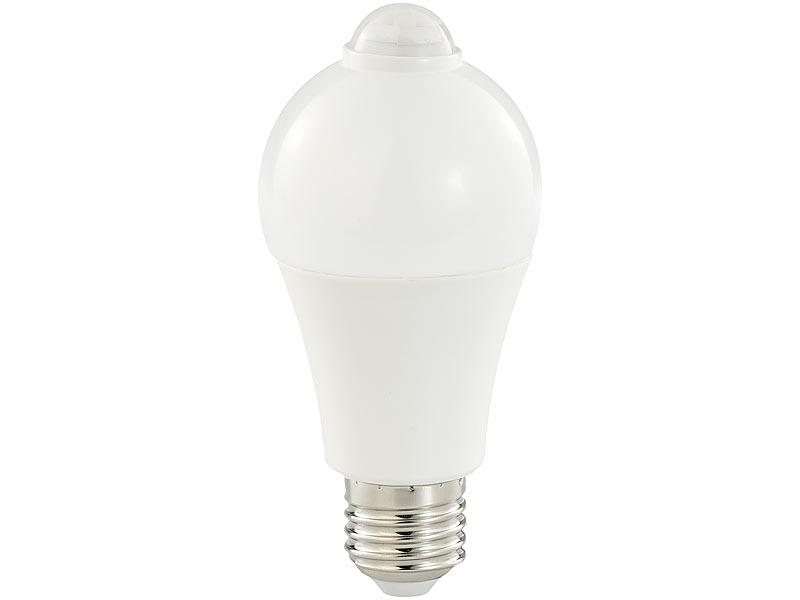 Luminea Led Lampe Pir Sensor 6 5 W E27 Tageslichtweiss