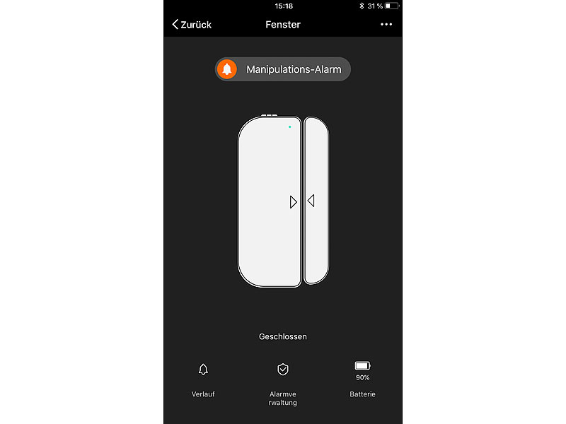 Kühlschrank Tür Alarm : Luminea home control wlan tür fensteralarm kompatibel zu amazon