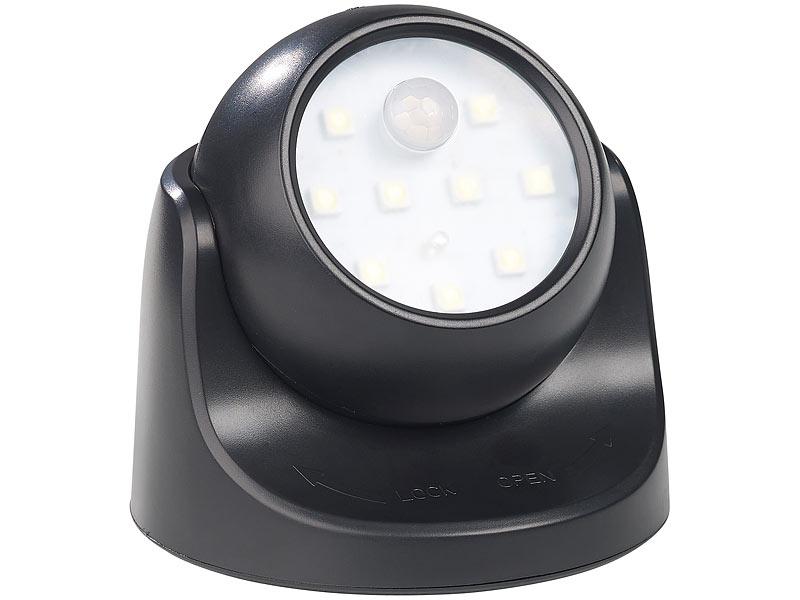 Luminea Kabelloser Led Strahler Bewegungssensor 360 Drehbar 100