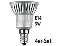 Luminea LED-Spot 3x 1W-LED, warmweiß, E14, 210 lm, 4er-Set