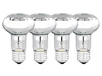 Luminea Halogen-Reflektor, R63, E27, 270 Lumen, 42 Watt, warmweiß, 4er-Set