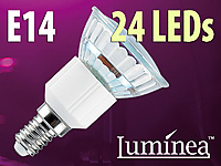 Luminea SMD-LED-Lampe, E14, 24 LEDs, blau, 9 lm