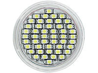 ; LED-Stifte G4 (warmweiß), LED-Spots GU5.3 (warmweiß)