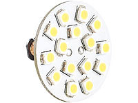 Luminea LED-Stiftsockellampe G4 (12V), 15 SMD LED ww, horizontal, 10er