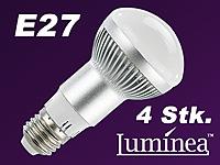 luminea led energiespar reflektorlampe e27 r63 300lm 5 5 w 3000 k 4er set. Black Bedroom Furniture Sets. Home Design Ideas