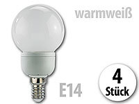 Luminea SMD-LED-Lampe Classic, 24 LEDs, warmweiß, E14, 95 lm, 4er-Set