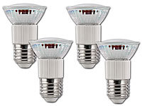 Luminea SMD-LED-Lampe, E27, 60 LEDs, 4,5W, weiß, 350-370 lm, 4er-Set