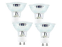 Luminea SMD-LED-Lampe, GU10, 60 LEDs, 4,5W, weiß, 350-370 lm, 4er-Set