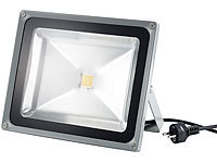 Luminea Wetterfester LED-Fluter, 50W, IP65, warmweiß (refurbished); LED-Spots GU10 (tageslichtweiß)