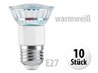 Luminea SMD-LED-Lampe, E27, 24 LEDs, warmweiß, 110 lm, 10er-Set; LED-Tropfen E27 (warmweiß)