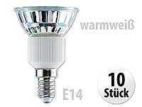 Luminea SMD-LED-Lampe, E14, 48 LEDs, warmweiß, 250 lm, 10er-Set