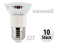 Luminea LED-Spot E27 3,3W warmweiß 340 lm 120° 10er-Set; LED-Tropfen E27 (warmweiß) LED-Tropfen E27 (warmweiß)