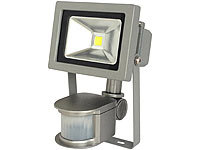 Luminea COB-LED-Fluter mit Metallgehäuse, 10 W, IP44, PIR (refurbished)