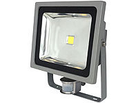 Luminea COB-LED-Fluter mit Metallgehäuse, 50 W, IP44, PIR, 4200 K; LED-Spots GU10 (warmweiß) LED-Spots GU10 (warmweiß)