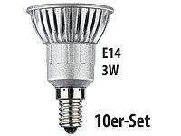 Luminea LED-Spot 3x 1W-LED, kaltweiß, E14, 250 lm, 10er-Set