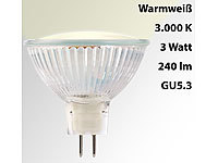 Luminea LED-Spotlight, Glasgehäuse, GU5.3, 2,5W, 240 lm, warmweiß, A+