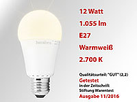 Luminea LED-Lampe, Klasse A+, 12 W, E27, warmweiß, 3000 K, 1.055 lm, 220°