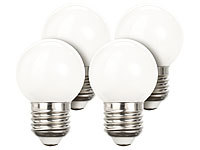 Luminea Retro-LED-Lampe, E27, 3 W, G45, 250 lm, warmweiß, 4er-Set