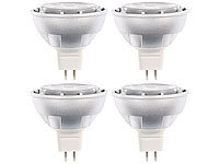 Luminea High-Power LED-Spot GU5.3 , 5W, 12V, tageslichtweiß, 450 lm, 4-er Set