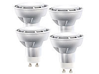 Luminea High-Power LED-Spot GU10, 7W, 230V warmweiß, 500 lm, 4er-Set