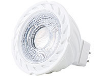 Luminea COB-LED-Spotlight, GU5.3, MR16, 7 W, 500 lm, warmweiß
