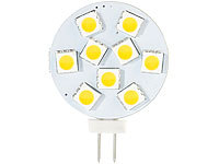 Luminea High-Power G4-LED-Stiftsockel, SMD5050-LEDs, Bi-Pin, 1,8 W, warmweiß; LED-Tropfen E27 (warmweiß) LED-Tropfen E27 (warmweiß)