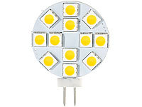 Luminea High-Power G4-LED-Stiftsockel, SMD5050-LEDs, Bi-Pin, 2,4 W, warmweiß; LED-Tropfen E27 (warmweiß) LED-Tropfen E27 (warmweiß) LED-Tropfen E27 (warmweiß)
