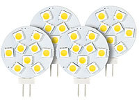 Luminea High-Power G4-LED-Stiftsockel, SMD5050-LEDs, 1,8 W, warmweiß, 4er-Set; LED-Tropfen E27 (warmweiß) LED-Tropfen E27 (warmweiß)