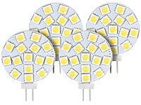 Luminea High-Power G4-LED-Stiftsockel mit SMD5050-LEDs, 3 Watt, weiß, 4er-Set