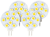 Luminea High-Power G4-LED-Stiftsockel, SMD5050-LEDs, 1,8 W, warmweiß, 4er-Set; LED-Tropfen E27 (warmweiß) LED-Tropfen E27 (warmweiß) LED-Tropfen E27 (warmweiß)