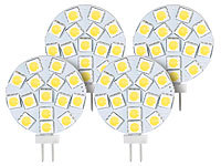 Luminea High-Power G4-LED-Stiftsockel mit SMD5050-LEDs, 3 W, warmweiß, 4er-Set