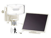 Luminea LED-Fluter, 12x0,5w , IP44, mit PIR-sensor, Solarmodul, (refurbished); Wasserfeste LED-Fluter (warmweiß)