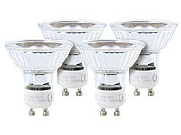 Luminea COB-LED-Spotlight, GU10, 5 W, 400 lm, warmweiß, 4er-Set