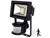 Luminea COB-LED-Fluter 10 W mit PIR-Sensor, 4200 K, IP44, schwarz; LED-Spots GU10 (warmweiß) LED-Spots GU10 (warmweiß)