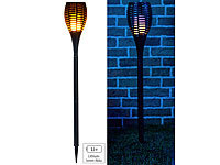Luminea LED-Gartenfackel, realistisches Flammenflackern, 2.200-mAh-Akku, IP44