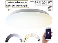 Luminea Home Control WLAN-LED-Deckenleuchte für Amazon Alexa & Google Assistant, CCT, 24 W; WLAN-Steckdosen mit Stromkosten-Messfunktion, WLAN-LED-Lampen E27 RGBW WLAN-Steckdosen mit Stromkosten-Messfunktion, WLAN-LED-Lampen E27 RGBW WLAN-Steckdosen mit Stromkosten-Messfunktion, WLAN-LED-Lampen E27 RGBW WLAN-Steckdosen mit Stromkosten-Messfunktion, WLAN-LED-Lampen E27 RGBW