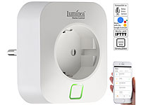 Luminea Home Control WLAN-Steckdose, App, komp. mit Amazon Alexa & Google Assistant, 16 A