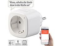 Luminea Home Control WLAN-Steckdose, App, komp. mit Amazon Alexa & Google Assistant, 16 A; WLAN-Steckdosen