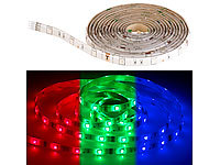 Luminea RGB-LED-Streifen LAC-515, 5 Meter, 150 LEDs, dimmbar, IP44; WLAN-LED-Streifen-Sets, kompatibel zu Amazon Alexa & Google Assistant WLAN-LED-Streifen-Sets, kompatibel zu Amazon Alexa & Google Assistant WLAN-LED-Streifen-Sets, kompatibel zu Amazon Alexa & Google Assistant