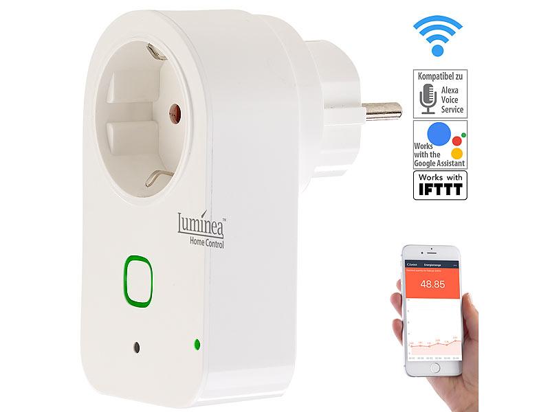 Luminea Home Control WLAN-Steckdose mit App, kompatibel mit Amazon ...