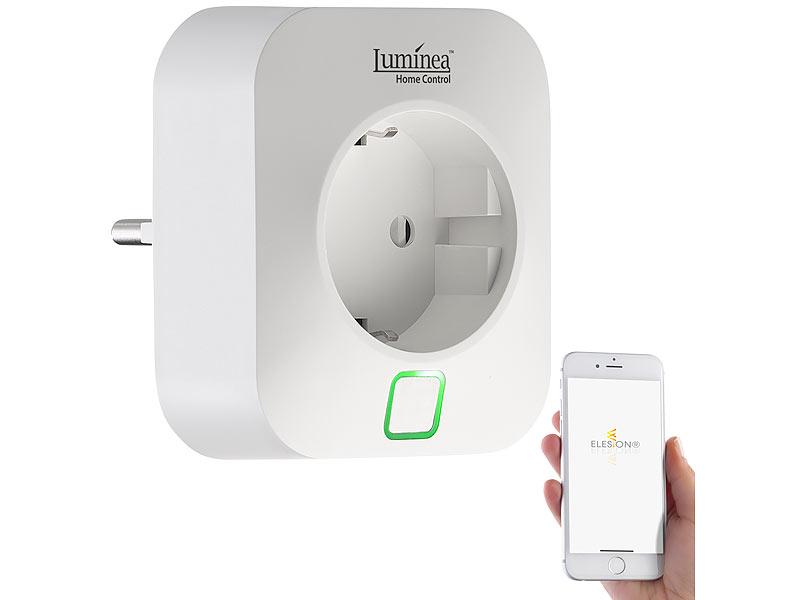 Luminea Home Control Wlan Steckdose App Komp Mit Amazon Alexa